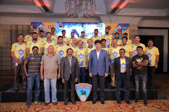 Chennai Spartans,Pro Volleyball,Chennai Spartans logo,Pro Volleyball League,Pro Volleyball 2019