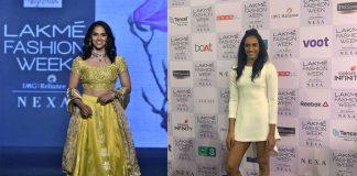 Saina Nehwal,PV Sindhu,Saina Nehwal Fashion Week,Sindhu Fashion Week,Lakme India Fashion Week