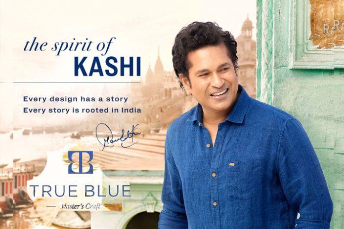 Sachin Tendulkar,Arvind Fashions,True Blue,Sachin fashion brand,Arvind Fashions Products