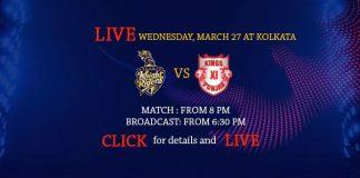 IPL 2019,IPL 2019 Live,KKR vs KXIP Live,Kings XI Punjab vs Kolkata Knight Riders Live,Watch KKR vs KXIP Live