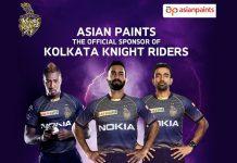 IPL 2019,Asian Paints,Indian Premier League,Kolkata Knight Riders,KKR