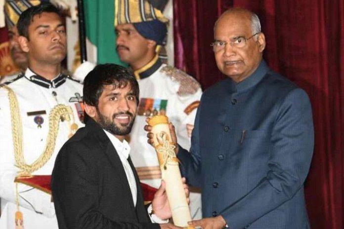Bajrang Punia,Padma Shri Award,Bajrang Punia Awards,President of India,Ram Nath Kovind