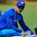 Dhoni gets hit on forearm during net session