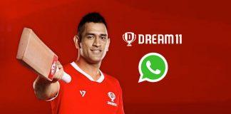 Dream11,WhatsApp,Mahendra Singh Dhoni,Dream11 Partnerships,Fantasy Game online