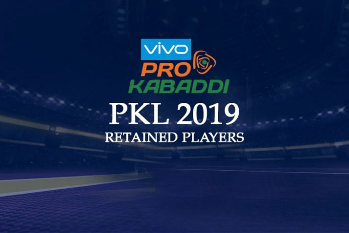 PKL 2019,Pro Kabaddi League,Pro Kabaddi,Pro Kabaddi League 2019,PKL 2019 retained players