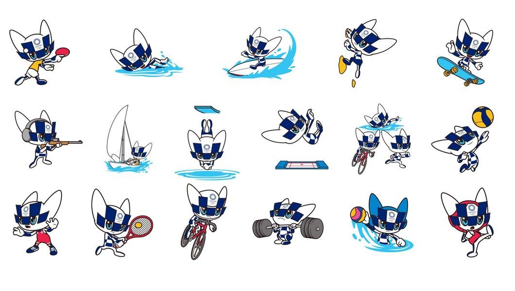 Tokyo 2020 unveils Mascot images representing sports disciplines
