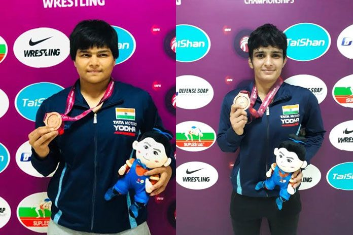 Divya Kakran,Manju Kumari,Asian Wrestling Championships 2019,Asian Wrestling Championships,Asian Wrestling Championships medallist