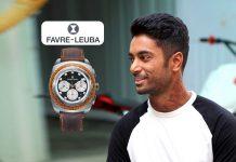 Favre- Leuba,Favre- Leuba Brand Ambassador,CS Santosh Brand Ambassador,Favre- Leuba Brand Ambassadors in India,CS Santosh