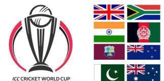 ICC World Cup 2019,ICC World Cup,ICC World Cup 2019 News,ICC World Cup Updates,ICC World Cup 2019 Teams
