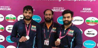 Asian Wrestling Championships,Asian Wrestling Championships 2019,Asian Wrestling Championships 2019 medallist,Sunil Kumar,Gurpreet Singh