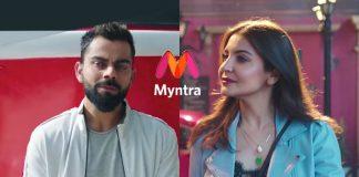 Myntra,Myntra official brand ambassadors,Virat Kohli,Anushka Sharma,Myntra brand ambassadors