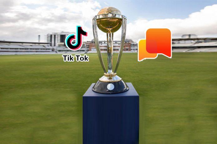 ICC World Cup 2019,ICC Cricket World Cup 2019,ICC Cricket World Cup,ICC World Cup 2019 Partnerships,Tik Tok Partnerships