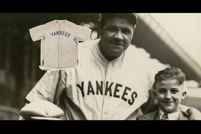 Babe Ruth,Babe Ruth Jersey,Babe Ruth Jersey auction,Baseball legends