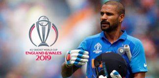 ICC World Cup 2019,ICC Cricket World Cup 2019,ICC Cricket World Cup,Shikhar Dhawan,Shikhar Dhawan injury