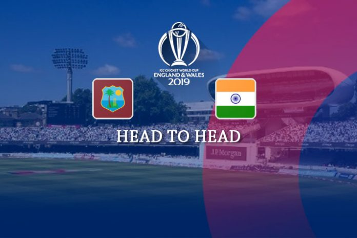ICC World Cup 2019,ICC Cricket World Cup 2019,ICC World Cup,India vs West Indies Live,India vs West Indies head to head matches