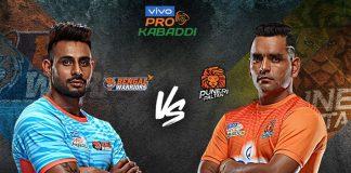 PKL 2019 Live,PKL 2019 Season 7 Live,Vivo Pro Kabaddi League 2019 Live,Bengal WarriorsvsPuneri Paltan Live,Watch Bengal WarriorsvsPuneri Paltan Live