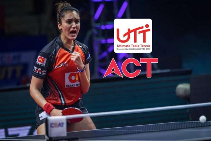 Ultimate Table Tennis,Ultimate Table Tennis 2019,ACT Fibernet,ACT Fibernet Partnerships,UTT 2019