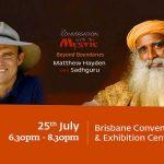 Matthew Hayden,Matthew Hayden spiritual stage,Sadhguru Jaggi Vasudev,Indian yogi Sadhguru Jaggi Vasudev,Mystic Beyond Boundaries