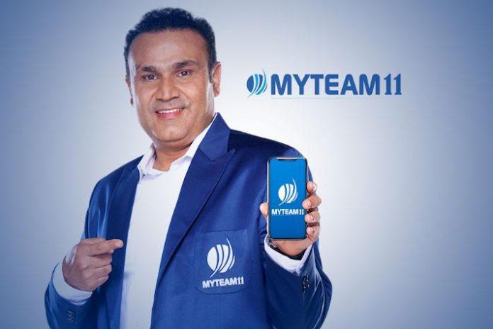 MyTeam11,India West Indies Series Sponsorships,West Indies vs India series,Virender Sehwag,MyTeam11 Sponsorships