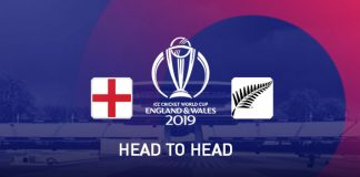 ICC World Cup 2019,ICC Cricket World Cup 2019,England vs New Zealand,England vs New Zealand Head to head matches,England vs New Zealand Head to head