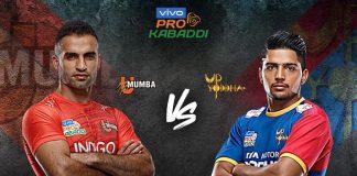 PKL 2019 Live,PKL 2019 Season 7 Live,Vivo Pro Kabaddi League 2019 Live,U Mumba vs U.P. Yoddha Live,Watch U Mumba vs U.P. Yoddha Live