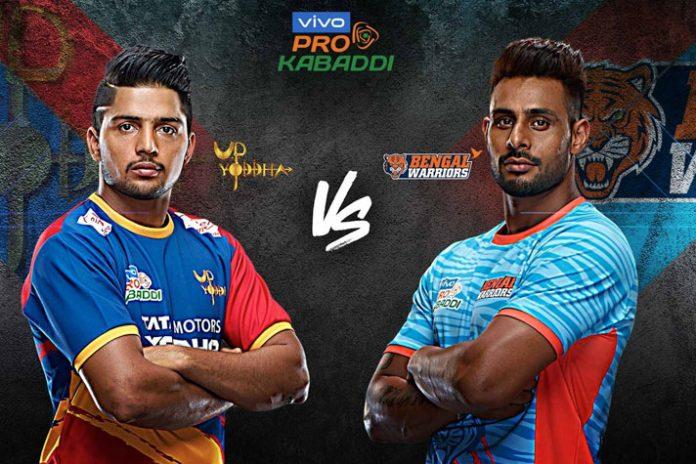 PKL 2019 highlights,PKL 2019 Season 7 highlights,Vivo Pro Kabaddi 2019 highlights,UP Yoddha vs Bengal Warriors highlights,Watch UP Yoddha vs Bengal Warriors highlights