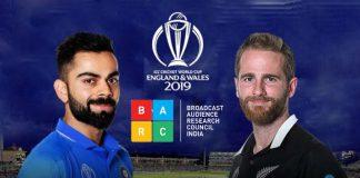 BARC Ratings,ICC World Cup BARC Ratings,ICC World Cup 2019,India vs NZ,IND vs NZ