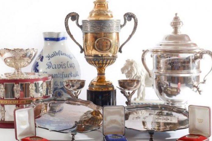 Boris Becker,Boris Becker trophy,Boris Becker trophy auction,Boris Becker memorabilia auction,Becker memorabilia auction