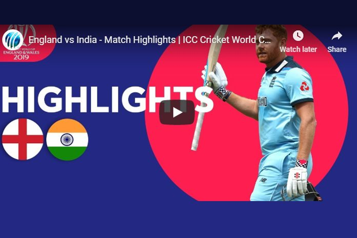 ICC World Cup 2019 Highlights,ICC Cricket World Cup 2019 Highlights,Watch ICC World Cup 2019 Highlights,India vs England Highlights,Watch IND VS ENG Highlights