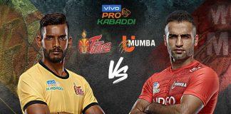 PKL 2019 Live,PKL 2019 Season 7 Live,Vivo Pro Kabaddi 2019 Live,Telugu Titans vs U Mumba Live,Watch Telugu Titans vs U Mumba Live