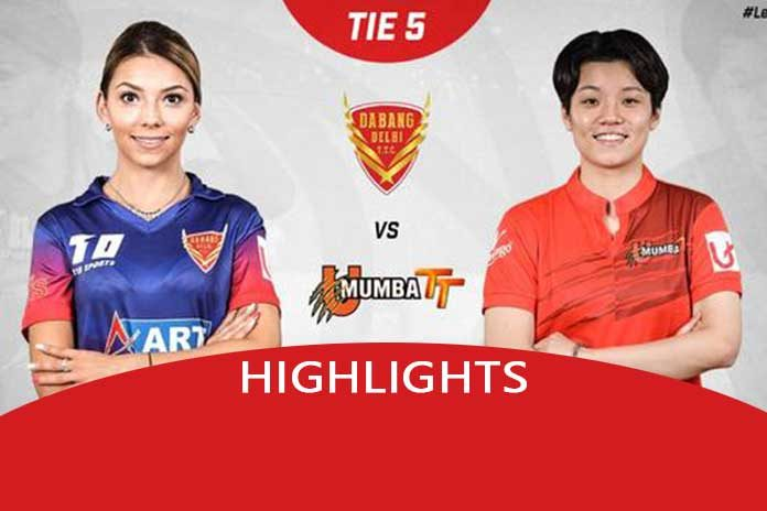 UTT 2019,UTT 2019 Highlights,Dabang Delhi vs U Mumba,Ultimate Table Tennis,Sathiyan Gnanasekaran