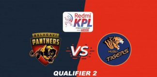 Karnataka Premier League 2019 Live,KPL 2019 Qualifier 2 Live,Karnataka Premier League 2019,Belagavi Panthers VS Hubli Tigers Live,Star Sports Live