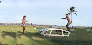 Natalia Guitler,Neymar Jr.,World Women's Footvolley's champion,Women's Footvolley's champion,Teqball Game