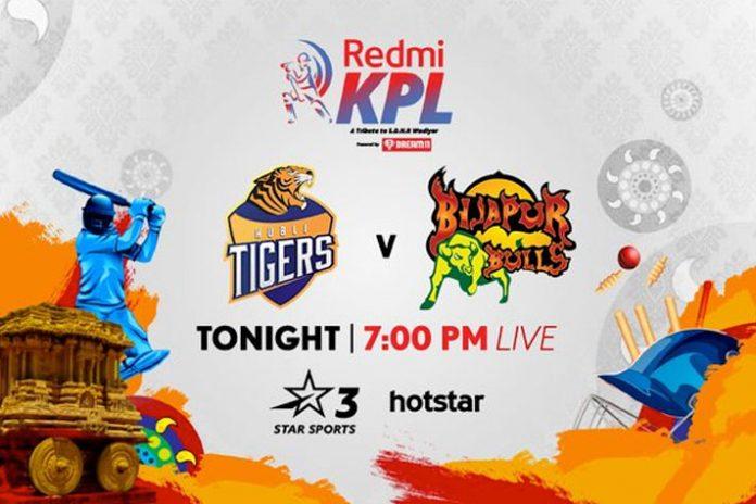 Karnataka Premier League 2019 Live,KPL 2019 Live,Karnataka Premier League 2019,Hubli Tigers vs Bijapur Bulls Live,Star Sports Live