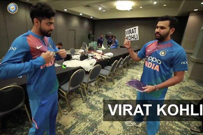 Rohit Sharma,Ravindra Jadeja,India vs West Indies Series,IND vs WI Series,Rohit Sharma Heads Up Challenge with Jadeja