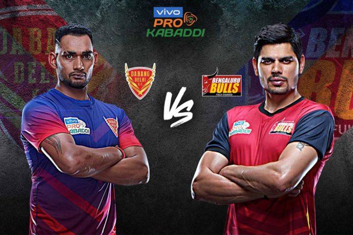 PKL 2019 Live,Pro Kabaddi Live,Pro Kabaddi League 2019 Live,Dabang Delhi vs Bengaluru Bulls Live,Star Sports Live