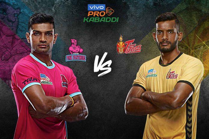 PKL 2019 Live,Pro Kabaddi Live,Pro Kabaddi League 2019 Live,Jaipur Pink Panthers vs Telugu Titans Live,Star Sports Live
