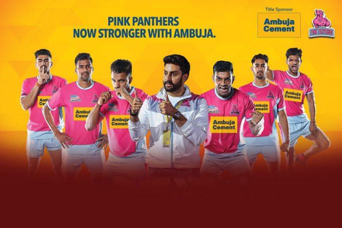 Ambuja Cement,Ambuja Cement Sponsorships,Jaipur Pink Panthers,Pro Kabaddi League 2019,Pro Kabaddi League