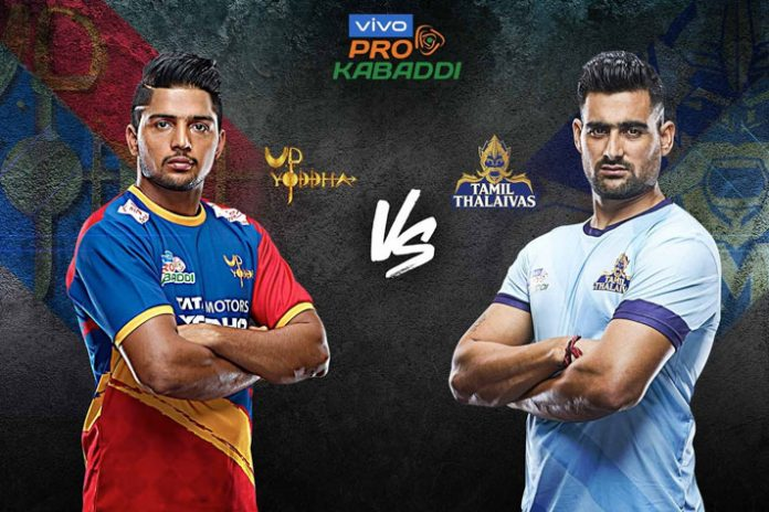 PKL 2019 Live,PKL 2019 Season 7 Live,Vivo Pro Kabaddi League 2019 Live,U.P. Yoddha vs Tamil Thalaivas Live,Watch U.P. Yoddha vs Tamil Thalaivas Live