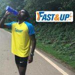 Fast&Up sign long distance runner Govindan Lakshmanan