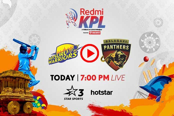 Karnataka Premier League 2019 Live,KPL 2019 Live,Karnataka Premier League 2019,Mysuru Warriors vs Belagavi Panthers Live,Star Sports Live