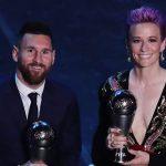 FIFA Football Awards 2019,FIFA Football,Best FIFA Football Awards 2019,Lionel Messi,Megan Rapinoe