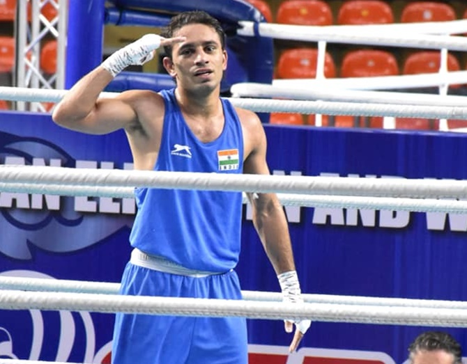 Gold-Medallist Amit Panghal,Amit Panghal,Korea's Jo Sehyeong,Boxing World Championship,Boxing World Championship 2019