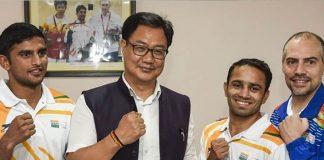 Kiren Rijiju,Boxing World Championship,Amit Panghal,Manish Kaushik,Men's Boxing World Championship