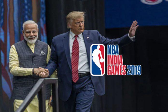 Donald Trump,PM Modi,NBA basketball,Jr NBA programme,Grand Howdy Modi