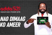 Adda52,Poker site Adda52.com,Brand Ambassador Chris Gayle,Brand Campaign,Chris Gayle