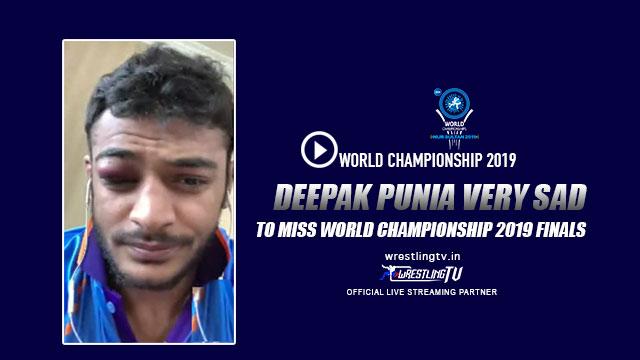 Deepak Punia,Deepak Punia Final,UWW World Championship 2019,UWW World Wrestling Championships 2019,World Wrestling Championships 2019