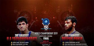 UWW World Championships 2019 Live,UWW World Wrestling Championships 2019 Live,World Wrestling Championships 2019 Live,World Championships 2019 Live,Deepak Punia vs Hassan Aliazam Live