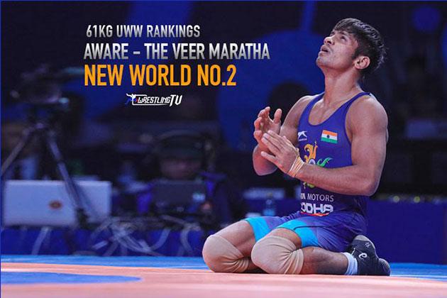 Rahul Aware,Rahul Aware Ranking,UWW World Championship 2019,UWW Rankings,Wrestling News