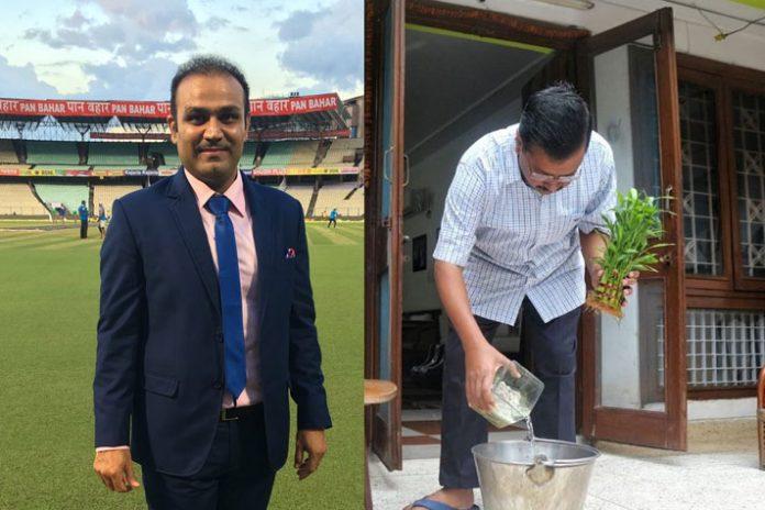 Virender Sehwag , Arvind Kejriwal,'10 Hafte 10 Baje 10 Minute' campaign,Cricket Player,Mosquito-Borne Diseases
